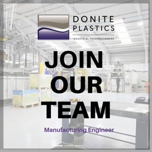 vacancy for manufacturing engineer at Donite Plastics